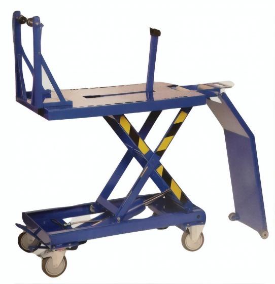 Cyclus reparatiestandaard 50 x 82 cm hydraulisch blauw