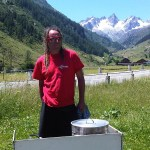 3juli2011 Philip maakt een fijn bakje soep voor ons
