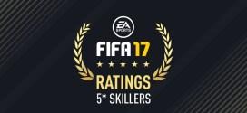 fifa 2017 5 yıldızlı futbolcular