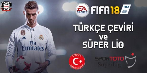 FIFA18 turkce super lig oyunda