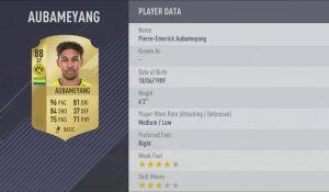 Pierre-Emerick Aubameyang fifa18