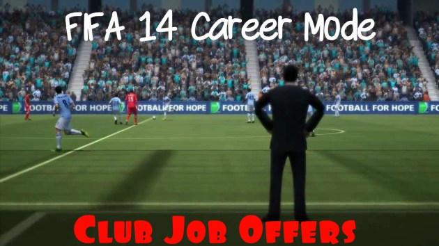 Career Mode Club Job Offers