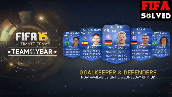 FIFA 15 TOTY Goalie and Defenders