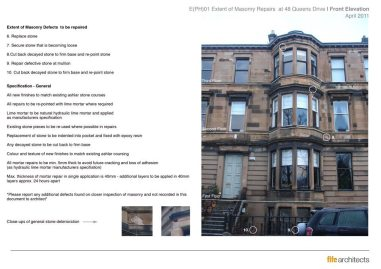 Queens Drive, Glasgow - Listed Building Consent Sample Sheet - Fife Architects