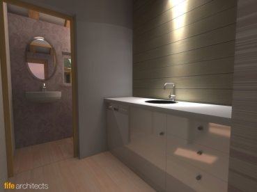 Utility Room Interior - Fife Architects