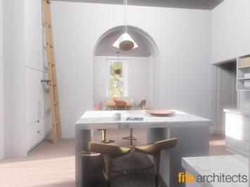 Farmhouse Kitchen Renovation © Fife Architects