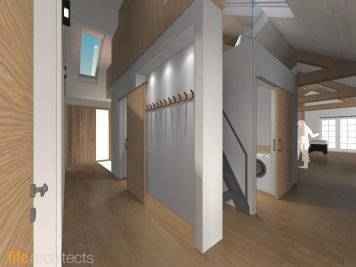 Architectural design for new hallway