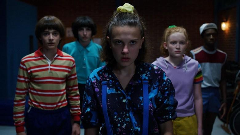 5 children standing; Shows like the stranger things