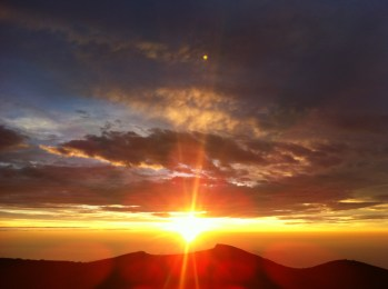 Sunrise from the summit of Mt Fuji, Japan, 2012