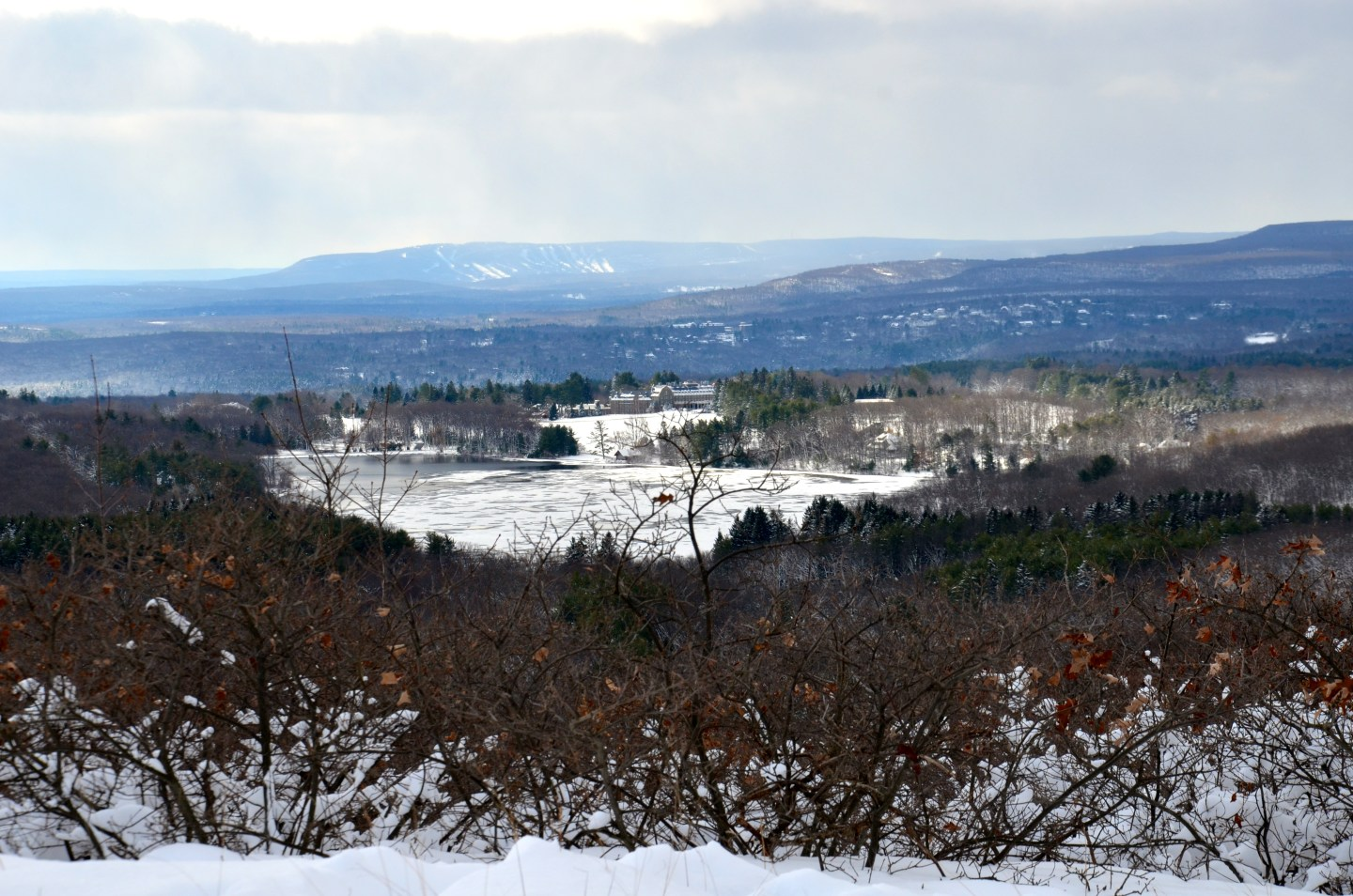 Hiking in the winter at Skytop Lodge in Pennsylvania