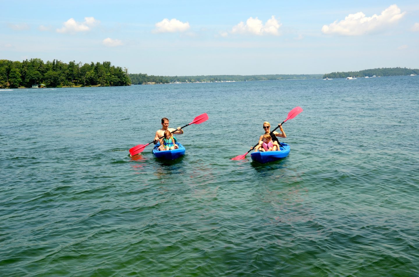 Kayaking in the Thousand Islands