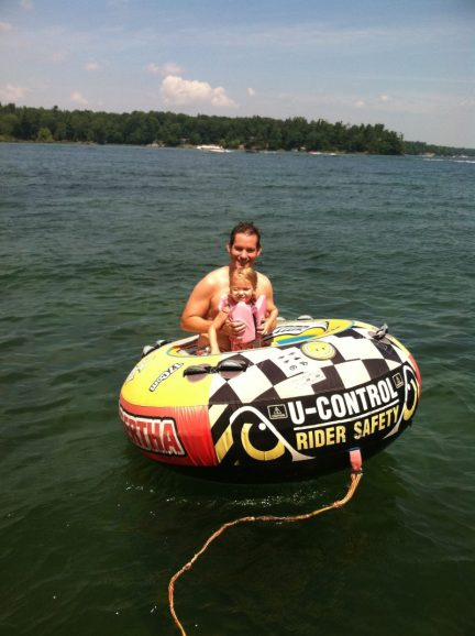 Water tubing in the Thousand Islands.