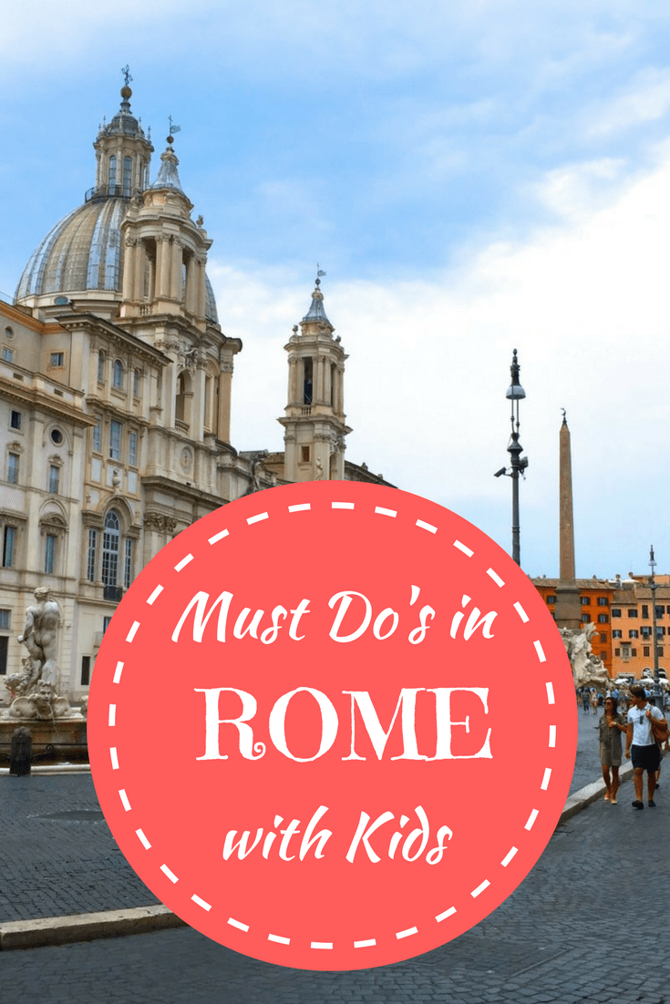 Top things to see and do in Rome with kids.