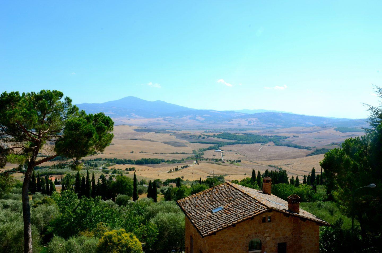 beautiful Pienza countryside.