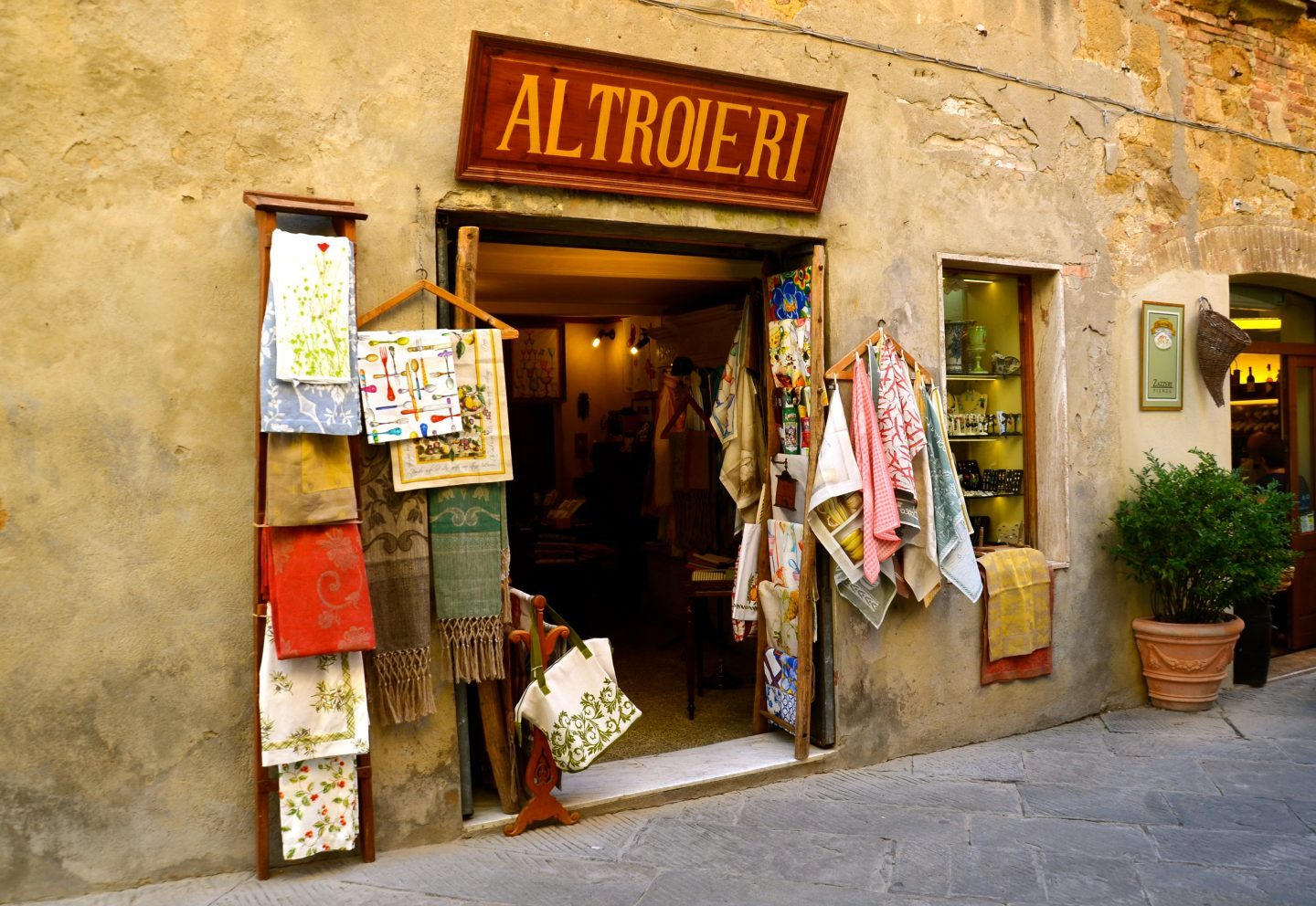 Storefront in Pienza Tuscany