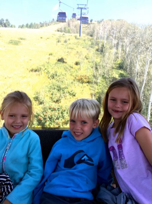 Gondola ride in Steamboat Springs, Colorado.