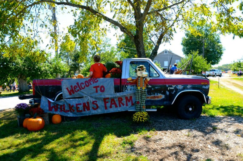 Welcome truck at Wilkens farm in Westchester, NY