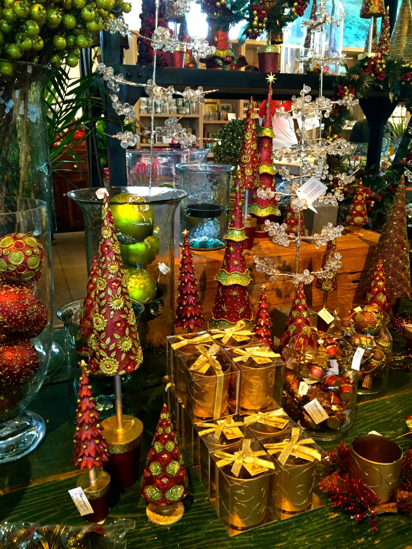Gift store at the Holiday Train Show at the New York Botanical Garden