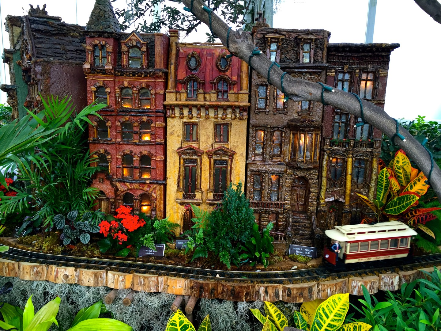 Brownstone Brooklyn at the Holiday Train Show at the New York Botanical Garden