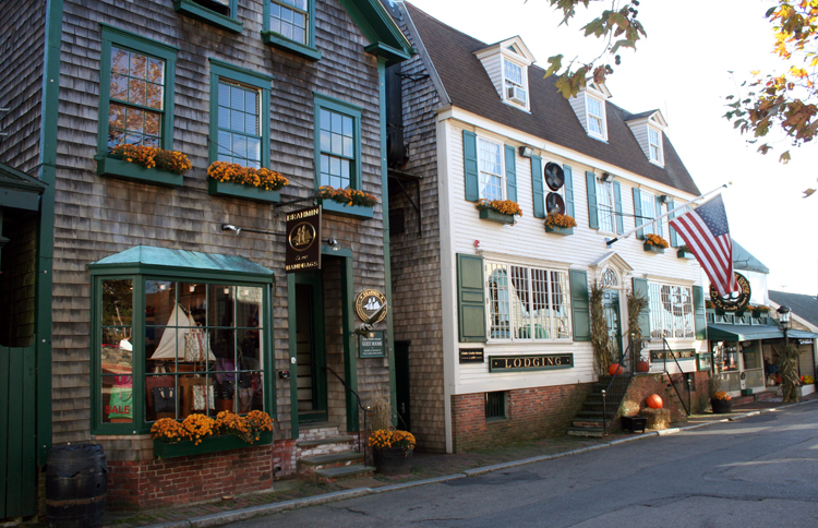 Strolling the streets in Newport, RI with kids