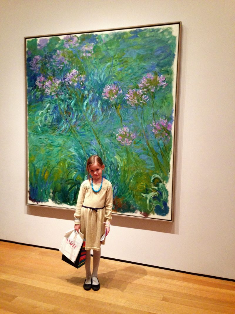 Family visit to Moma in NYC.