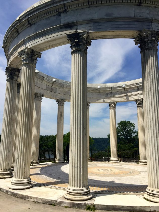 Roman style architecture at Untermyer Park and Gardens in Yonkers New York.