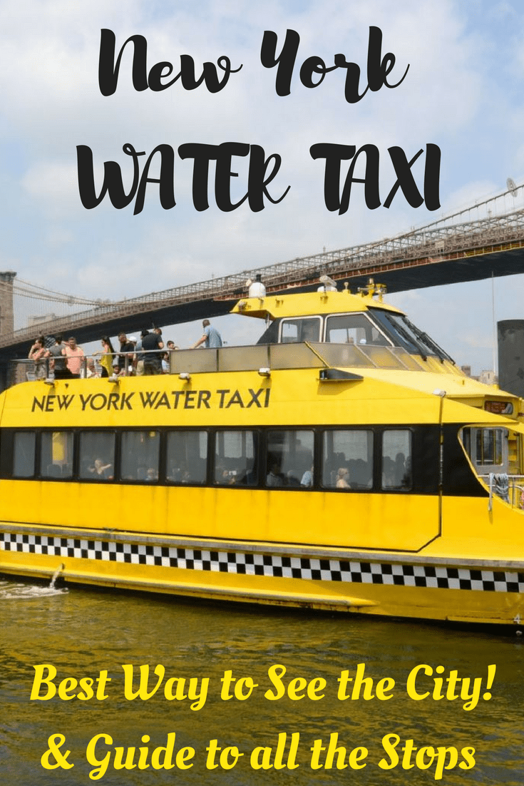 The New York Water Taxi is an adventurous and fun way to explore the Big Apple.