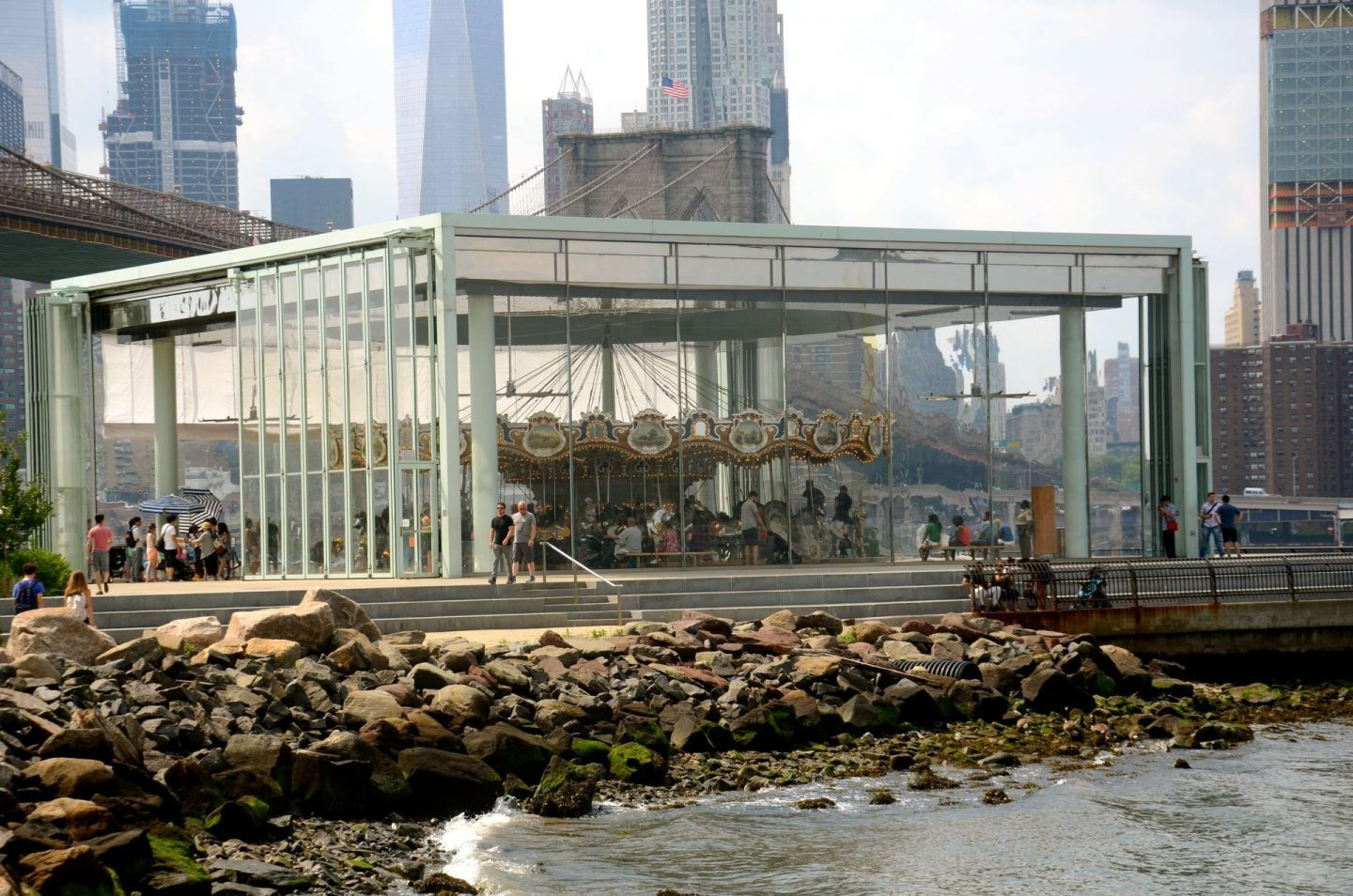 Janes Carousel in Brooklyn Bridge Park.
