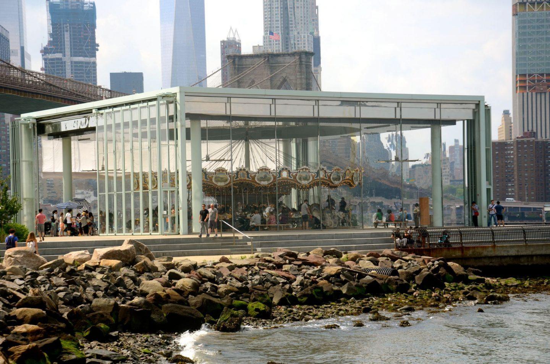 Janes Carousel in Brooklyn Bridge Park.