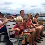 Kids aboard the New York Water Taxi.