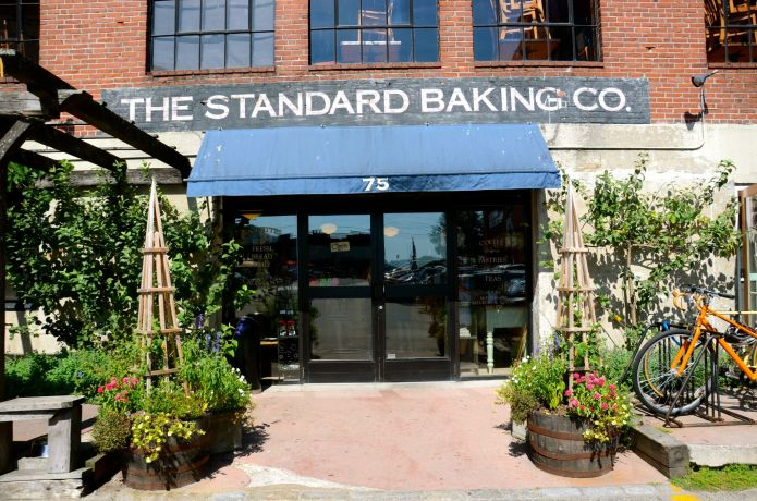 Fun things to do in Portland, Maine includes going to the Standard bakery.