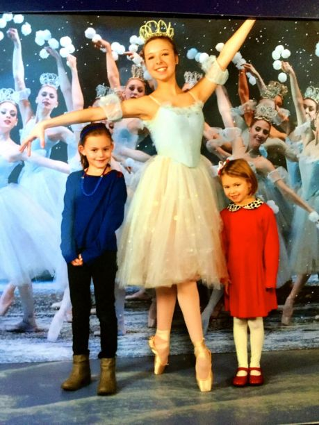 Meeting a ballerina at the Nutcracker during Christmas in New York.