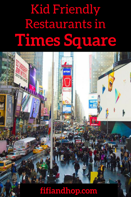 Kid friendly restaurants in Times Square