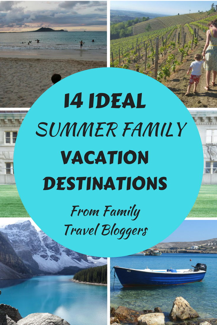 Ideal Summer Family Vacation Destinations from some of my favorite family travel bloggers. From Europe to Canada to Australia to the United Sates, there are so many places waiting to be explored by the whole family. Our travel with kids list gets better all the time thanks to family travel bloggers like these.