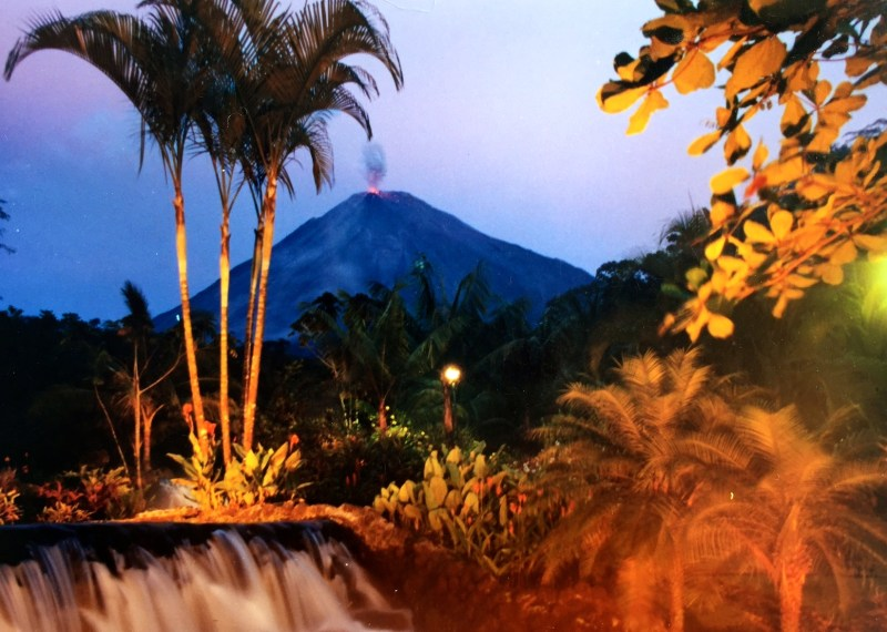 Travel Exchange - Enjoying Arenal at night in Costa Rica.