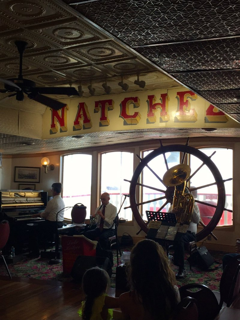 Live jazz music aboard the Steamboat Natchez in New Orleans.