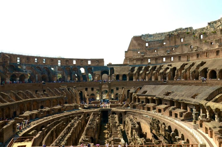 Roaming the Colosseum in Rome