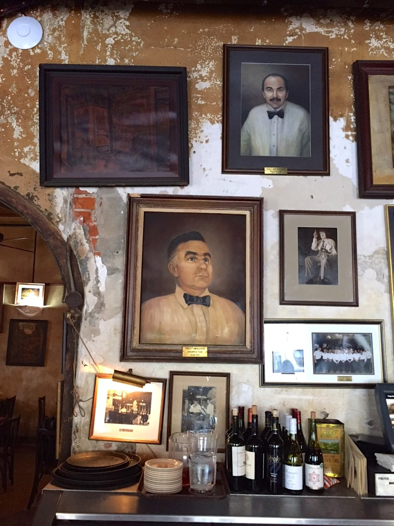 Dining at the Napoleon House in the French Quarter in New Orleans.