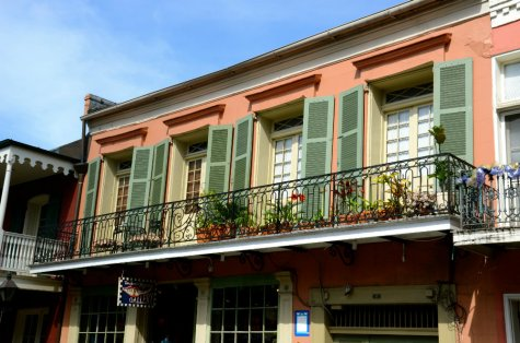 Exploring the balconies of the French Quarter in New Orleans.