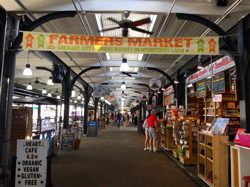 Wandering around the French Market in the French Quarter in New Orleans.