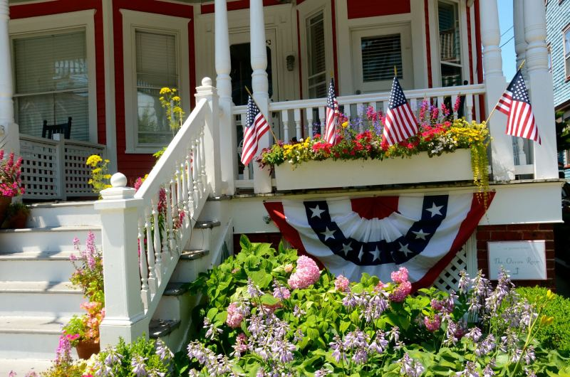 House in Cape May, NJ with Independence Day decor