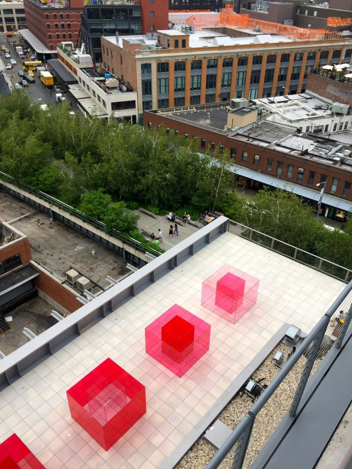 The Whitney museum in New York in the summer.