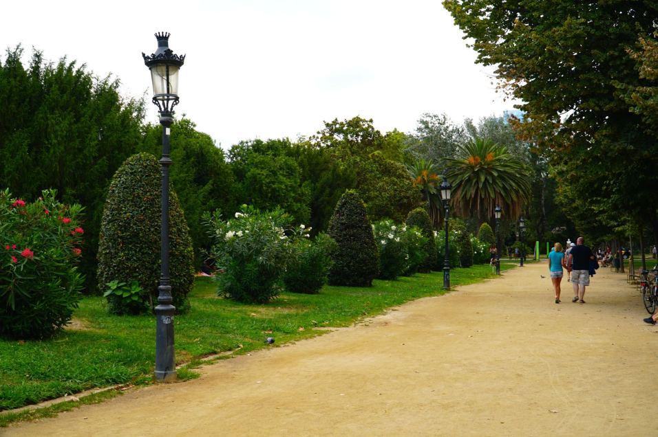 Exploring Ciutadella park in Barcelona.