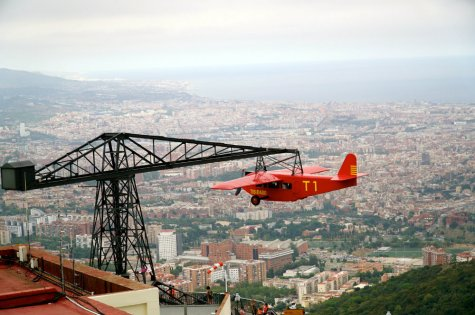 Best of Barcelona with kids at Tibidabo amusement park.