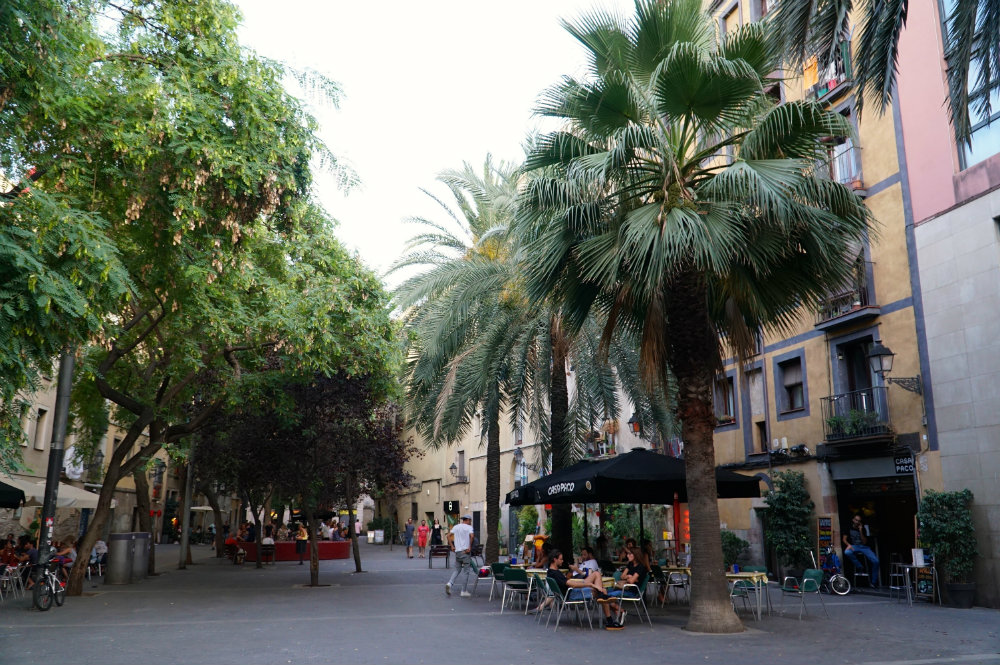 Walking around the neighborhoods of Barcelona, walking guides