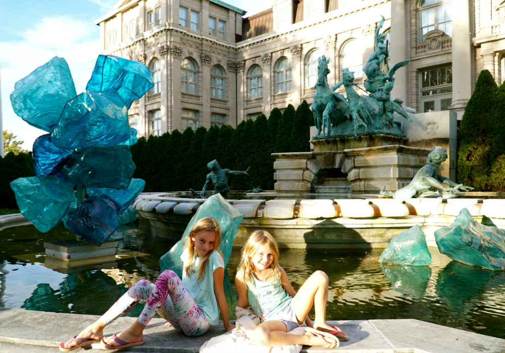 Hanging out with the blue crystals at the Chihuly exhivition at the New York Botanical Garden.