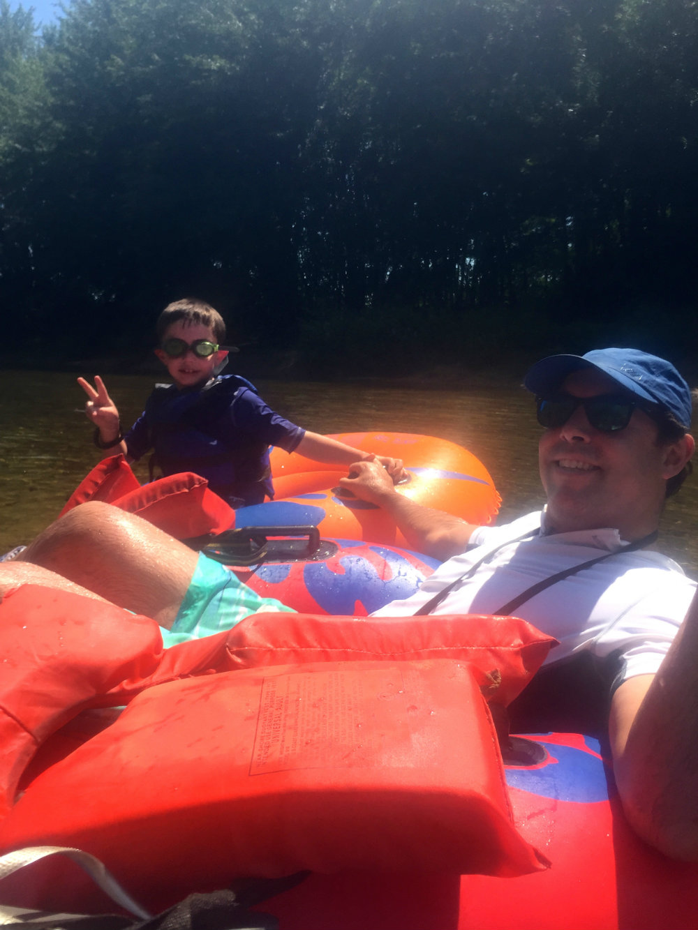 Tubing on the Saco River in New Hampshire