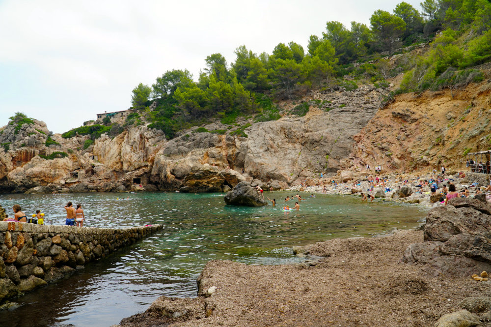 Chilling at Cala Deia in Mallorca.