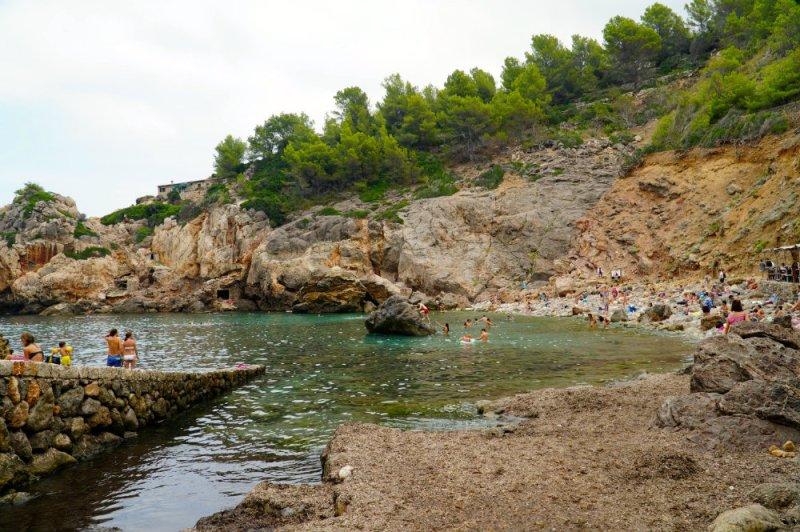Chilling at Cala Deia in Mallorca.