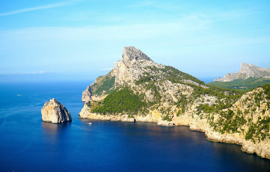View from Mirador des Colomer in Cap de Formentor in Mallorca.